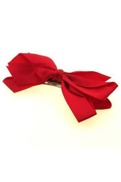 Red Bowknot Hair Clip