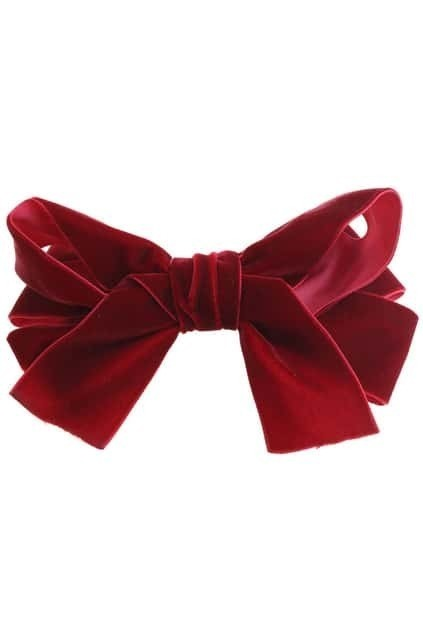 Wine Red Bowknot Hair Clip