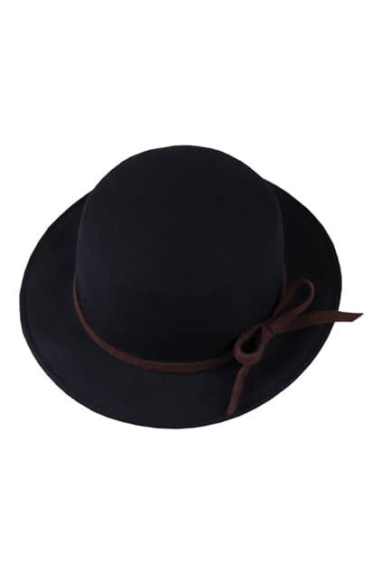 Bowknot Detailing Black Trilby