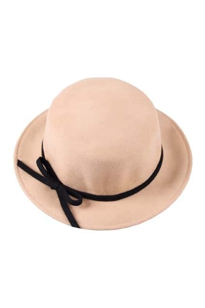 Bowknot Detailing CamelTrilby