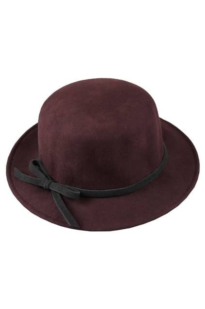 Bowknot Detailing Coffee Trilby