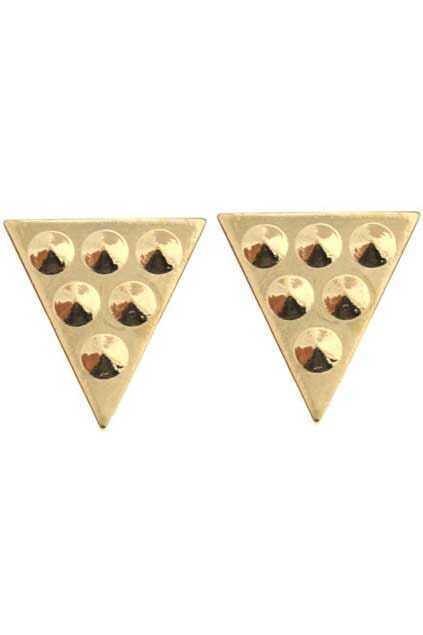 Golden Triangle Stud Brooches