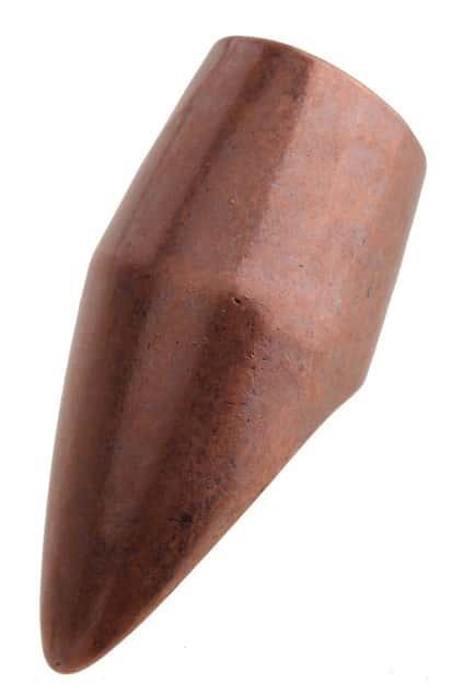 Fingernail Shape Red Copper Ring