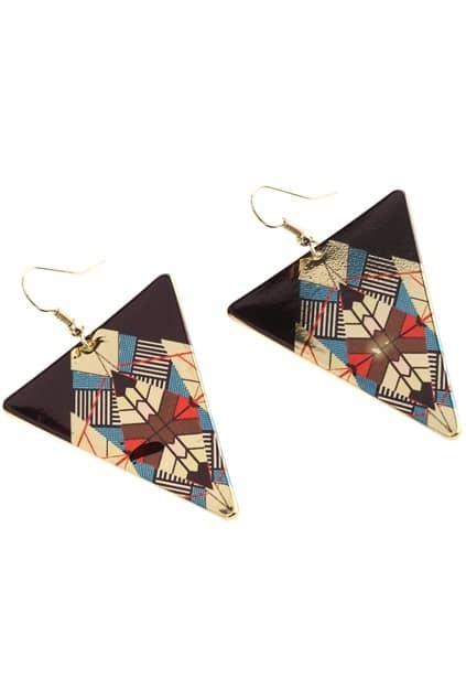 Triangle Shape Multi-color Earrings