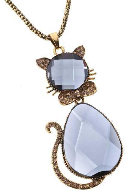 Cat-shaped Chain Pendant Necklace
