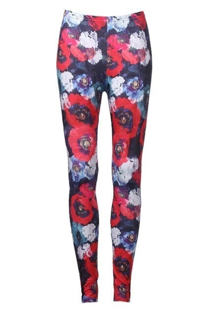 Floral Print Multi-color Leggings
