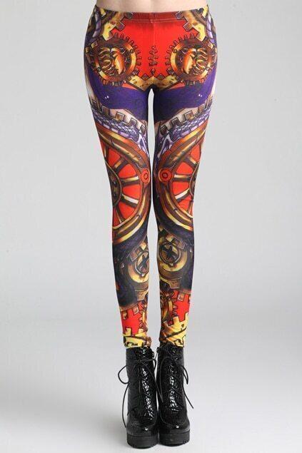 Baroque-Like print leggings