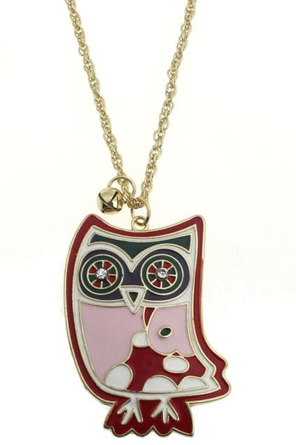 Lovely Pink Owl Necklace