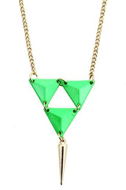 Neon Triangle Pendant Necklace