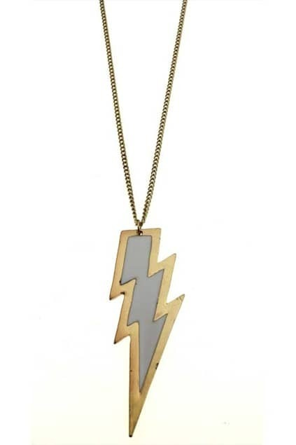 Lightening-sharp Metal Pendant Necklace