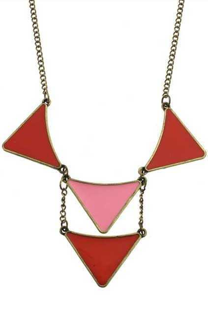 Triangle Shape Pendant Necklace
