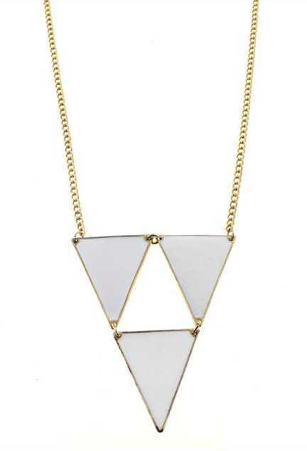 Oversized Triangle Pendant Necklace