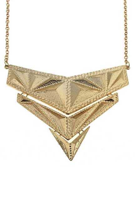 Oversized Triangle Collar Pendant Necklace