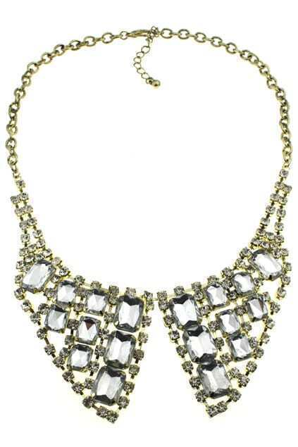 Jewel Diamante Collar Necklace