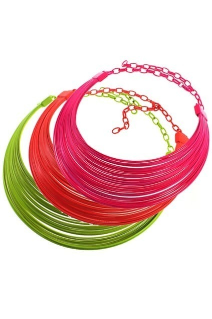 Plastic Collar Necklace