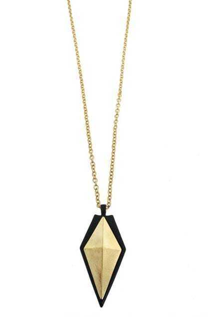 Oversized Spearpoint Pendant Necklace