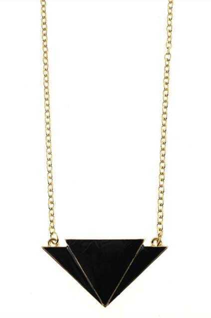 Overlap Triangle Pendant Necklace