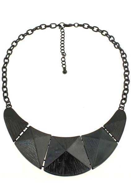 Oversized Splicing Pyramid Necklace