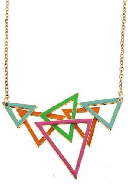 Splicing Triangle Pendant Necklace