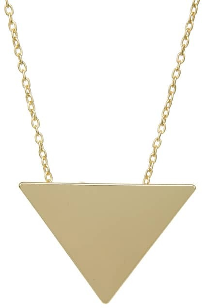 Golden Triangle Pendant Necklace