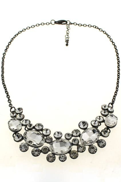 Jewel Diamante Pendant Necklace