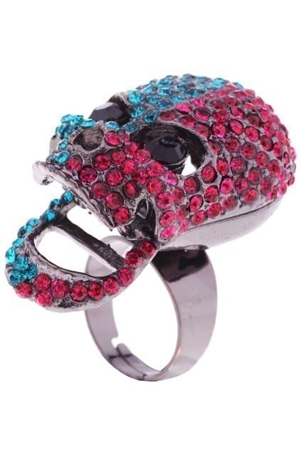 Skull Charm Sparkling Ring