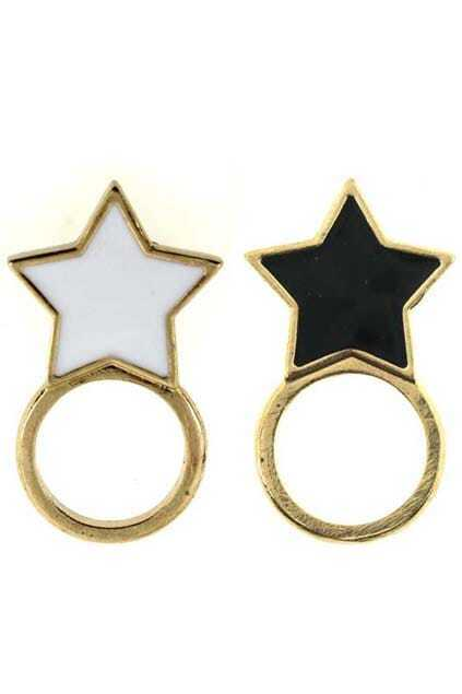 Five-pointed Star Charm Ring