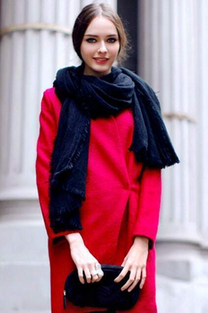 Chic Style Black Soft Scarf