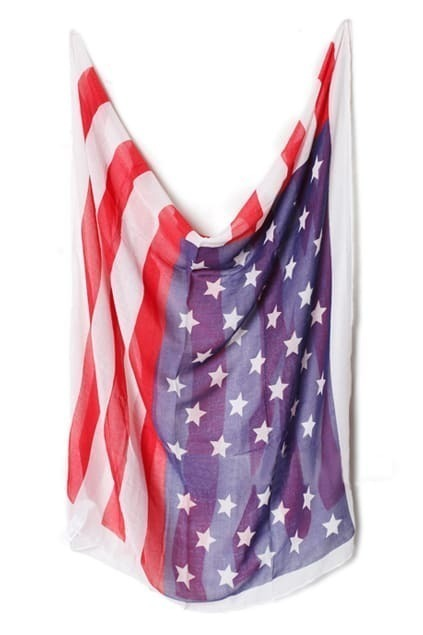 Rectangle Old Glory Scarf