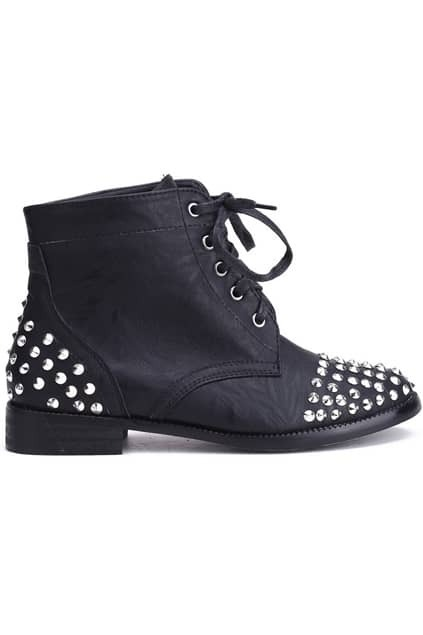 Rivets Detailed Heeled Shoes