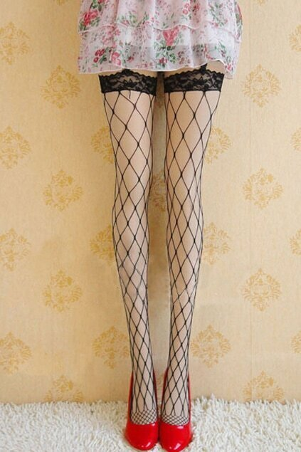 Netty Black Suspender Tights