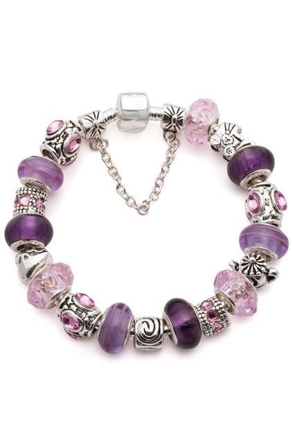 SOUFEEL Sterling Silver Purple Love Bracelet