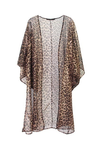 Leopard Printed Long Blouse