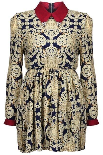 Baroque Print Dress