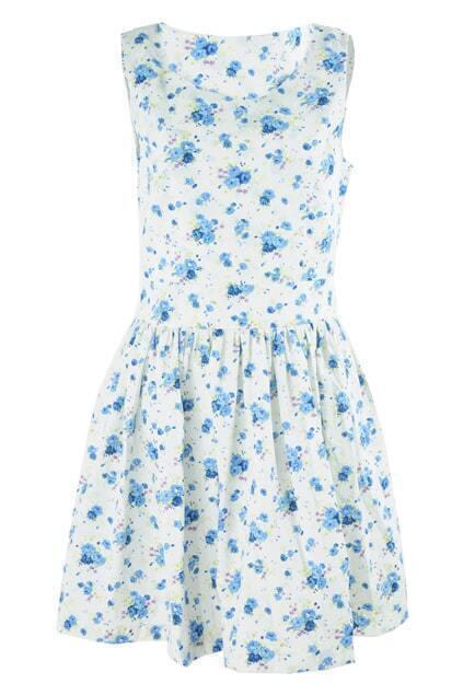 Feminine Floral Print Dress