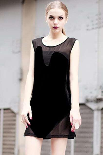 Anomalous One Piece Black Dress
