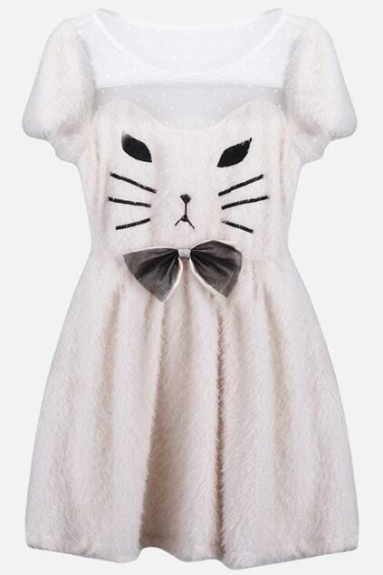 White Catty Dress