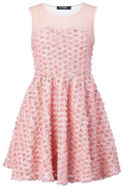 Pink Rose Blooming Dress