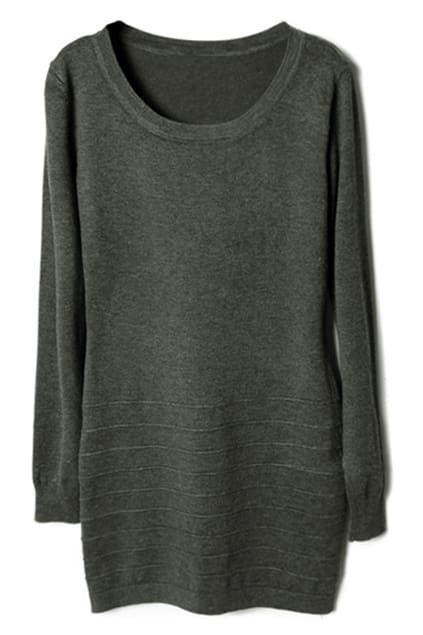 Flouncing Dark-grey Autumn Dress
