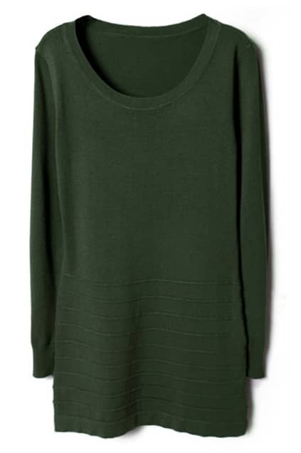 Flouncing Army-green Autumn Dress