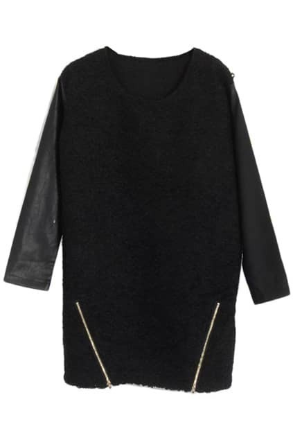 Zippers Black Montage Dress