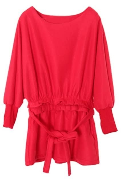 Folded Red Autumn Dress