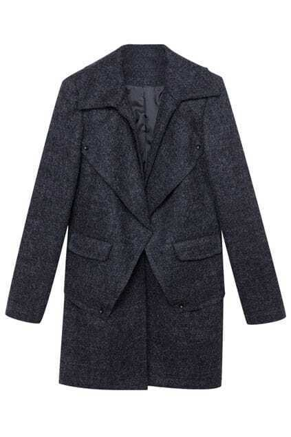 Dark Grey Woolen Coat