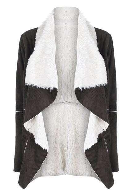 Threadbare Faux Fur Green Coat