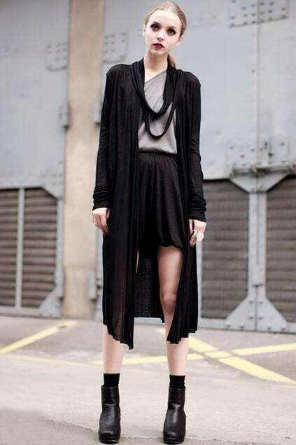 Multi-layers Ribbons Black Coat