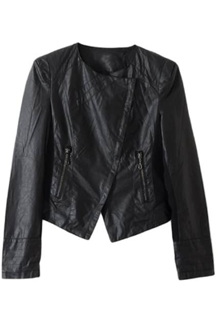Zip Spliced Black Jacket