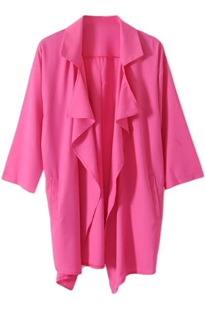 Anomalous Chiffon Rose Trench Coat