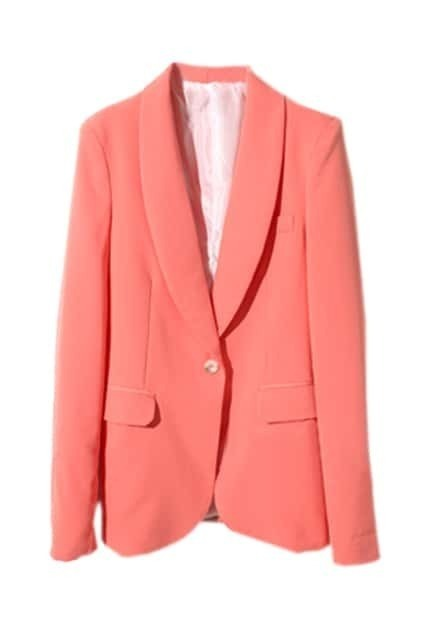 Candy Color Melon-Red Blazer