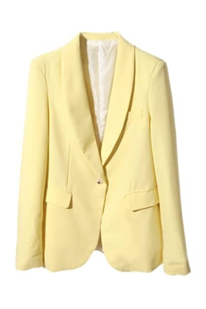 Candy Color Light-Yellow Blazer