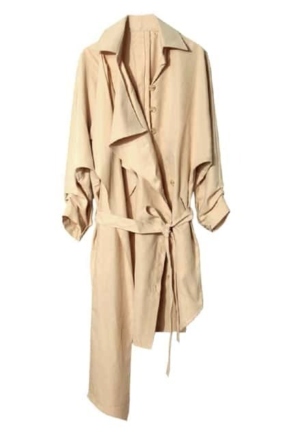 Occident Style Apricot Trench Coat